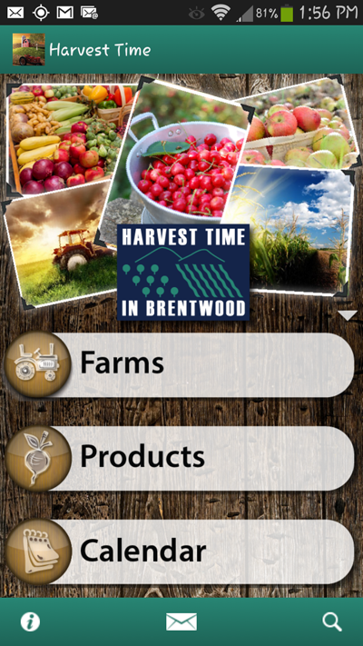 Harvest Time phone app